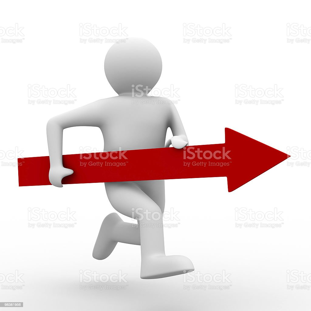 Movement direction to success. Isolated 3D image royalty-free stock photo