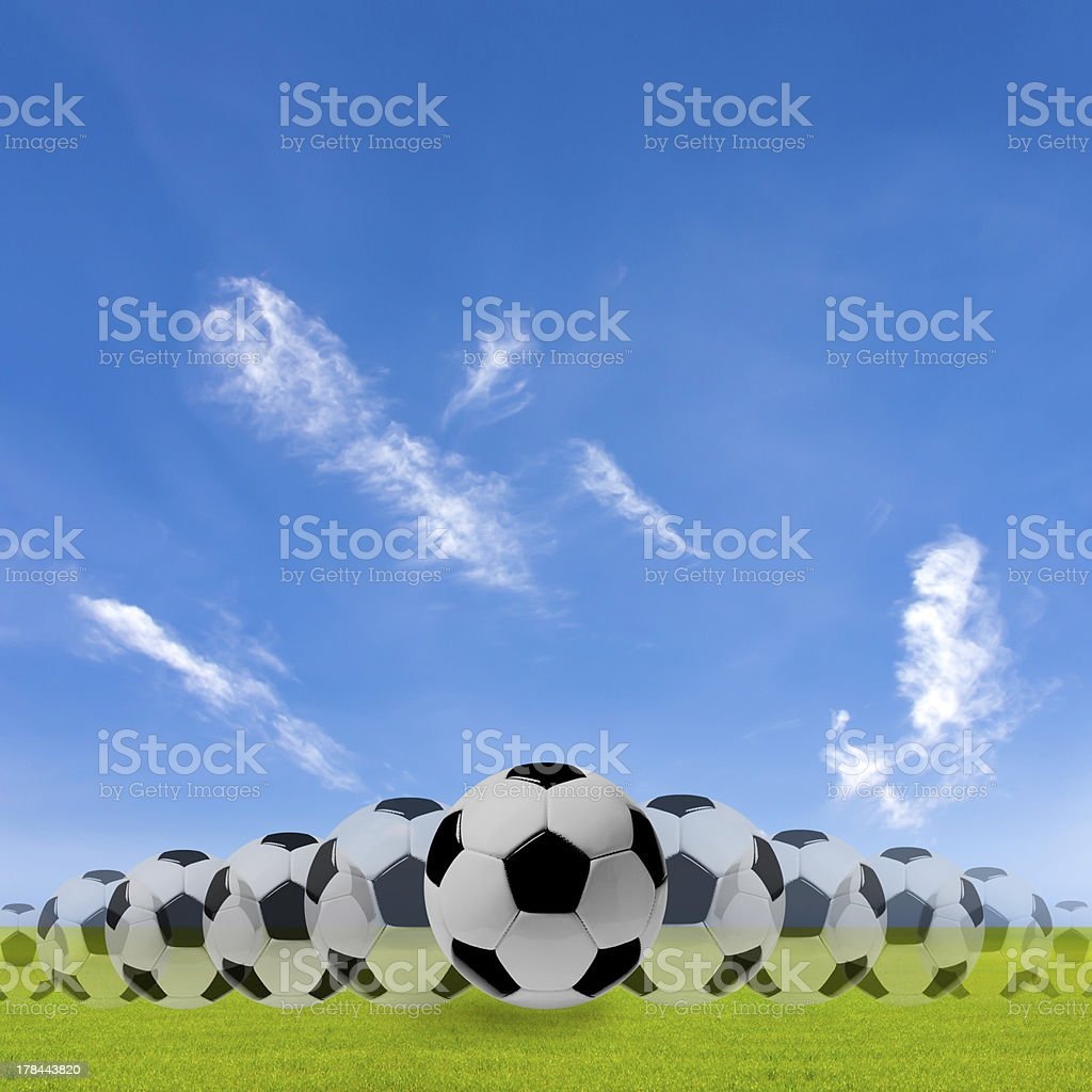 movement of  ball on the grass. royalty-free stock photo