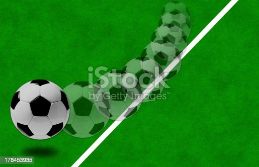 185262834 istock photo movement of  ball on the grass. 178453935