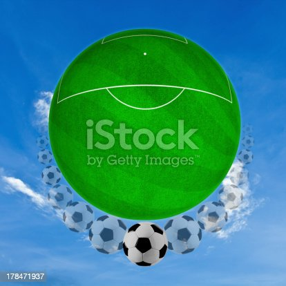 185262834 istock photo movement of ball on the grass. 178471937