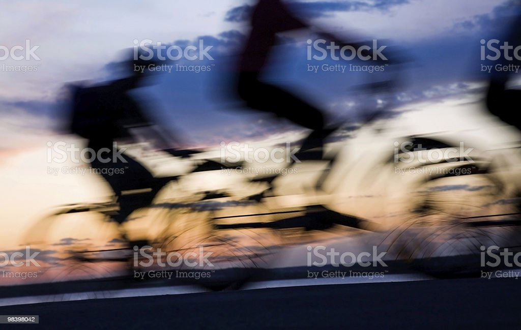 Movement of bicyclists royalty-free stock photo