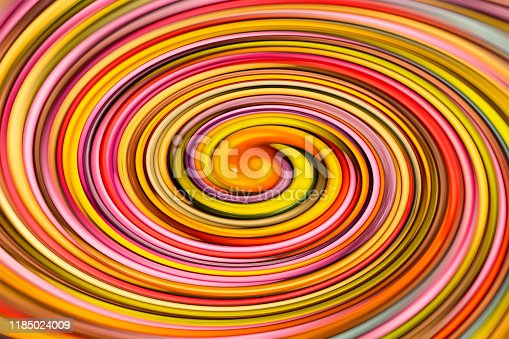 movement of colors crimson yellow lilac beige orange center of tornado curved lines