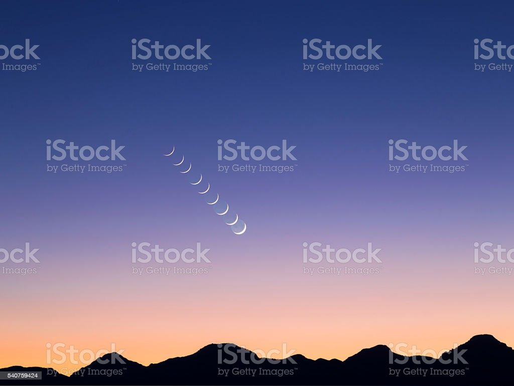 Movement Of Newmoon stock photo