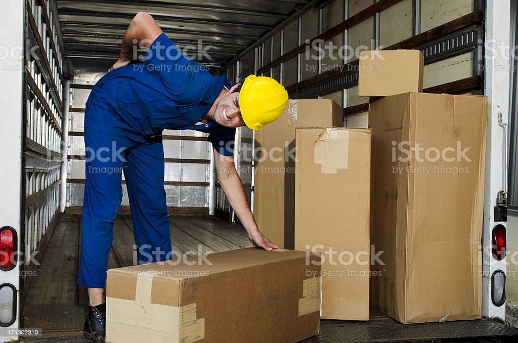 Mover with Sore Back royalty-free stock photo