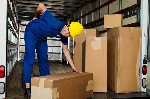 Mover with Sore Back stock photo