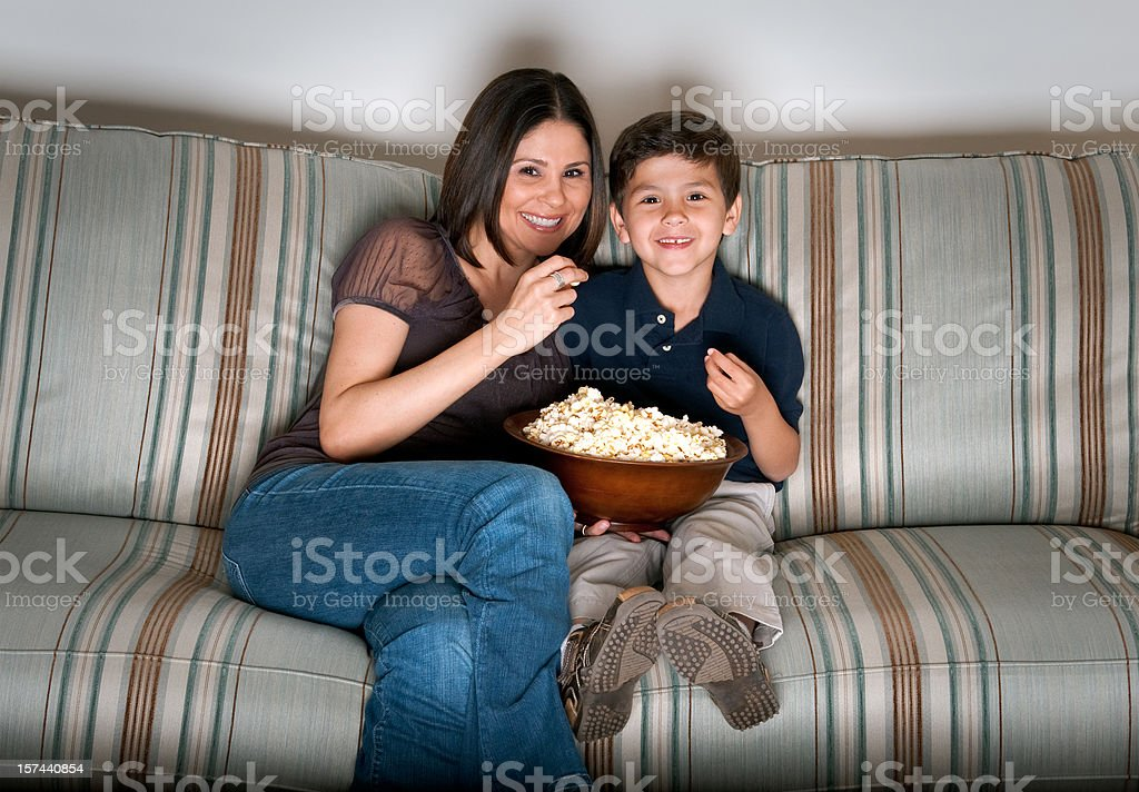 movie at home royalty-free stock photo