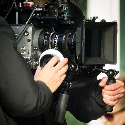 Photo libre de droit de Movie Camera Filming banque d'images et plus d'images libres de droit de Adulte
