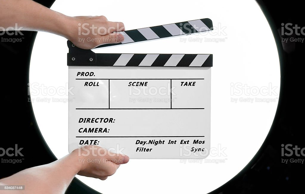 Movie Clapboard stock photo