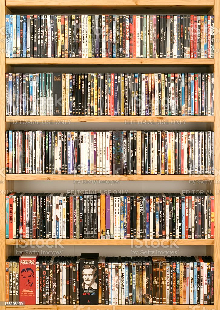 DVD movie collection royalty-free stock photo