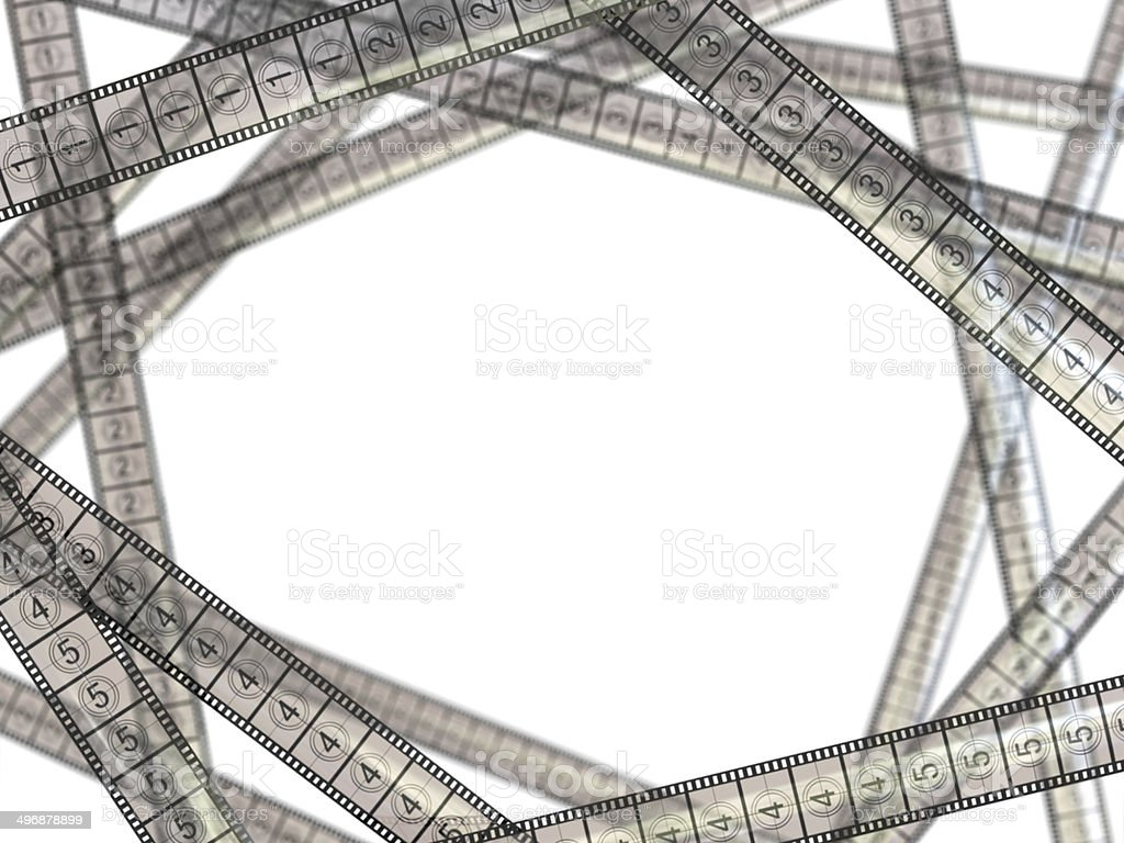 Movie concept. Film strips on white background. stock photo