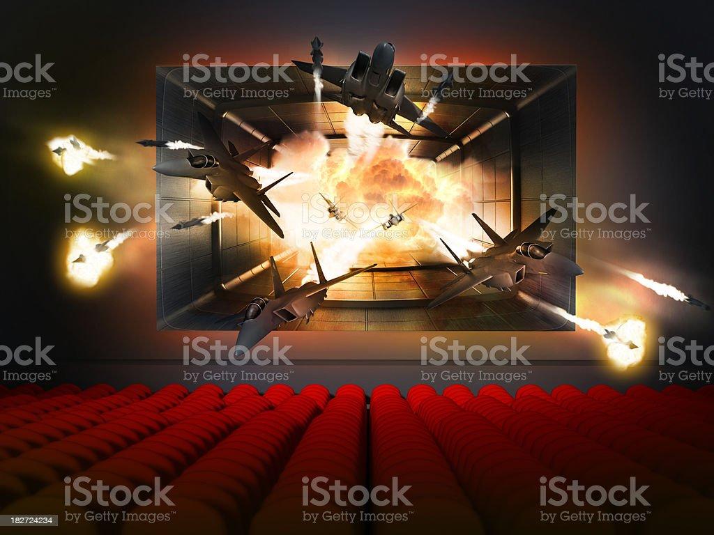 3D movie concept stock photo