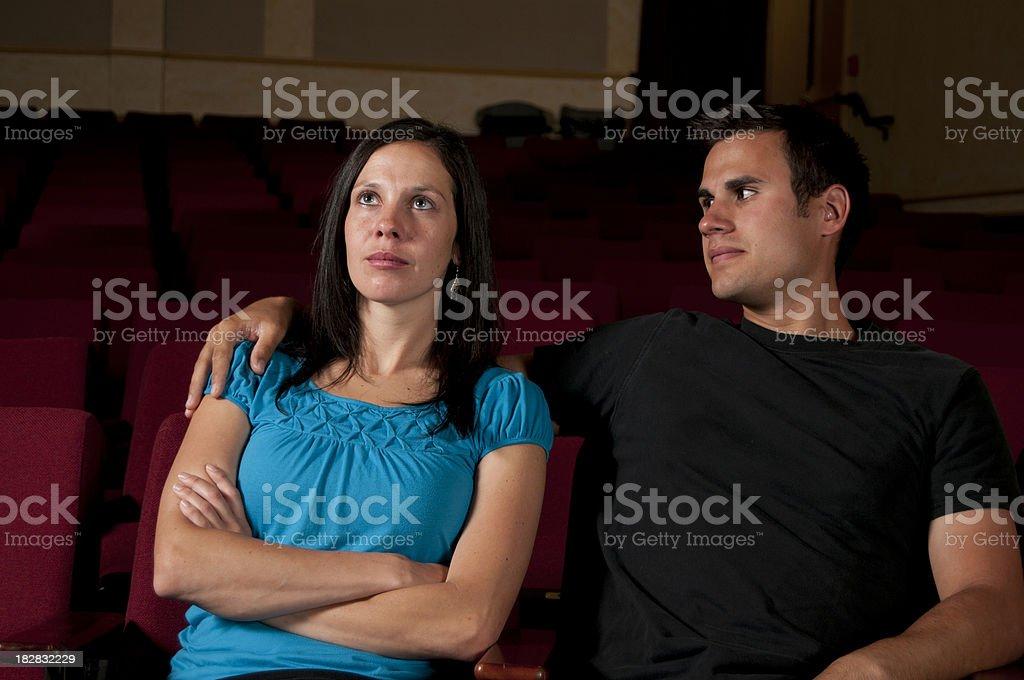 Movie Date royalty-free stock photo