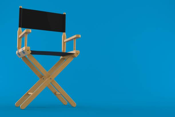 Movie director chair stock photo