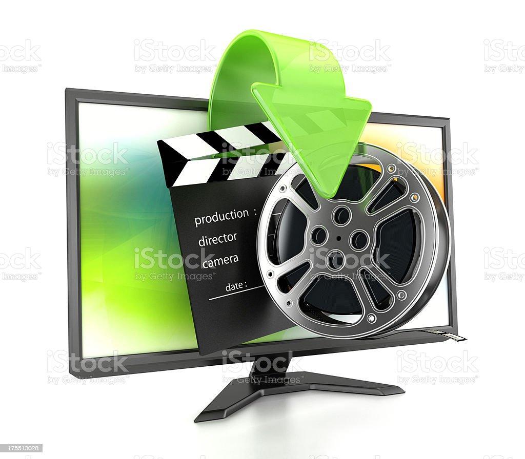 Movie download stock photo