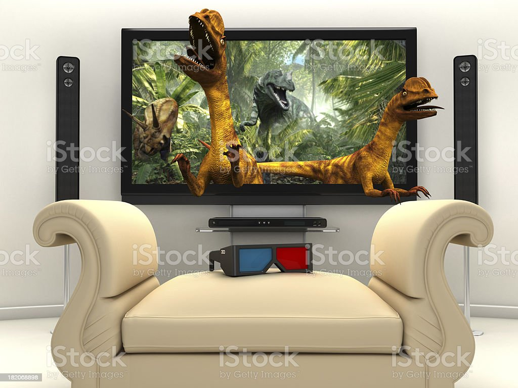 3D movie experience stock photo