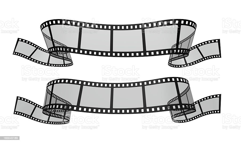 Movie Film Banner Isolated Royalty Free Stock Photo