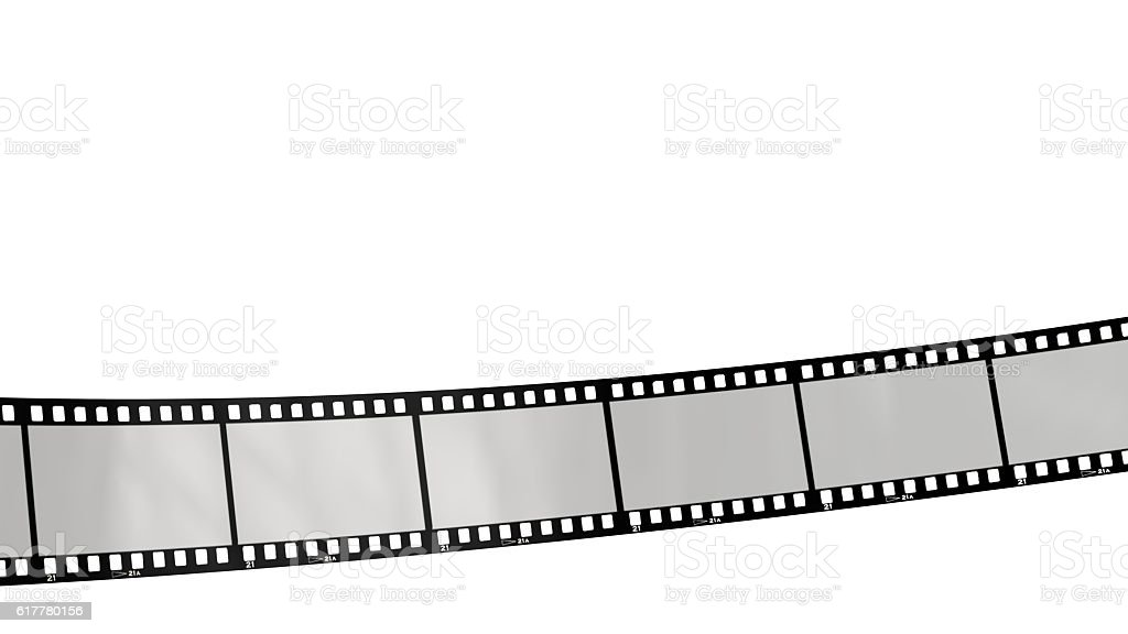 movie filmstrips isolated on white stock photo