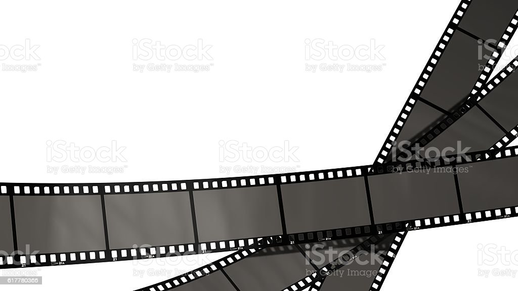 movie filmstrips isolated on white – Foto