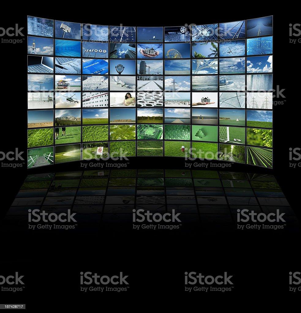 TV movie panels stock photo