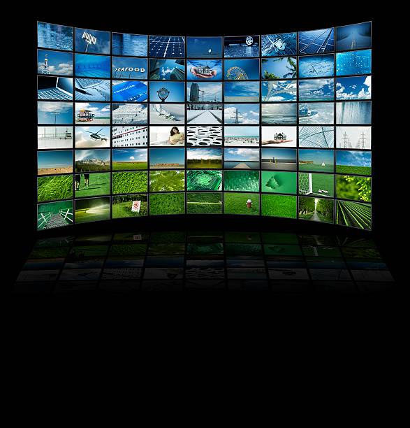 Paneles de película de televisión - foto de stock