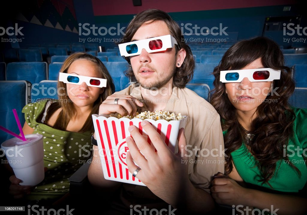 3D Movie royalty-free stock photo