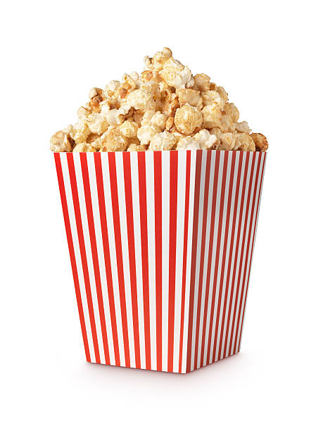 Movie popcorn verticle shot stock photo