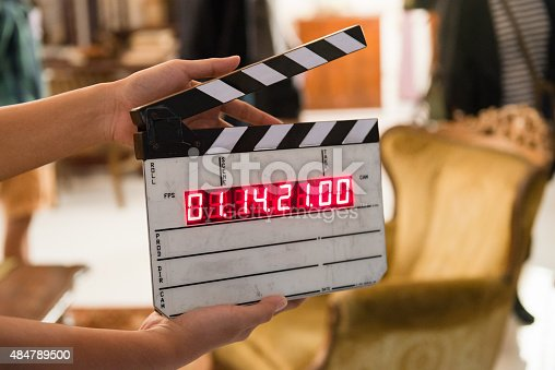 istock Movie production digital clapper board 484789500