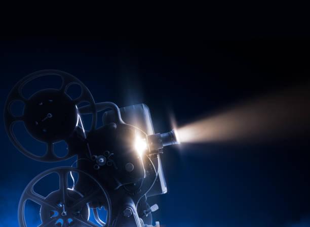 Movie projector on dark background