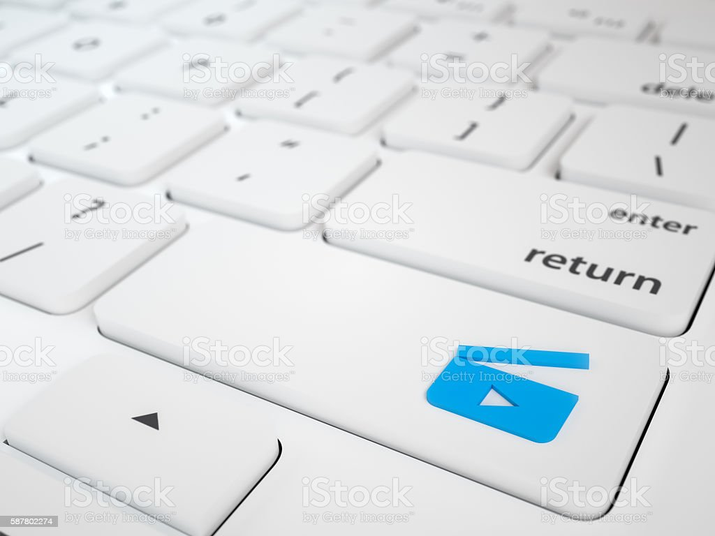Movie Search Button Key stock photo