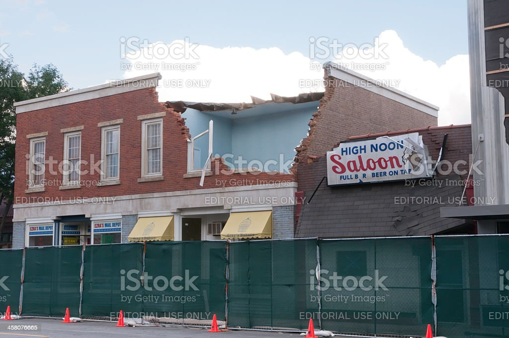 Movie set before the big shoot in a small town royalty-free stock photo