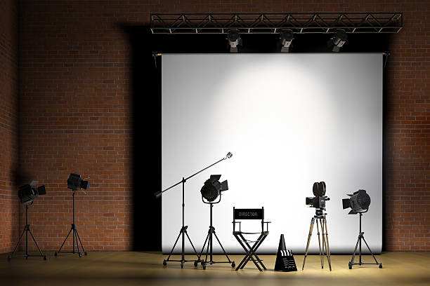 Movie Set stock photo