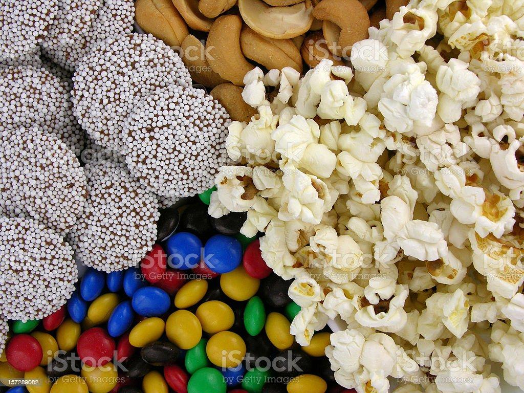 Movie snacks stock photo
