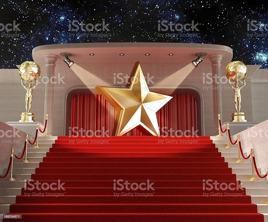 Movie star stock photo