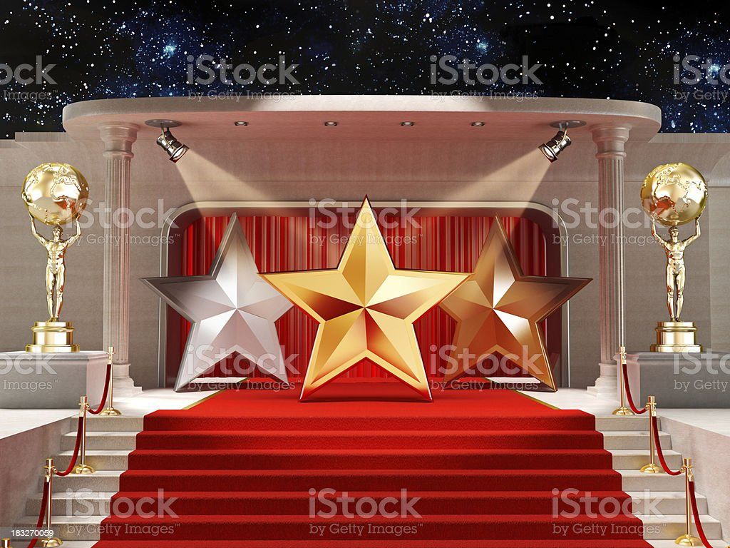 Movie star royalty-free stock photo