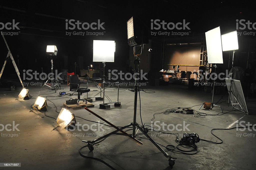 Movie studio stock photo