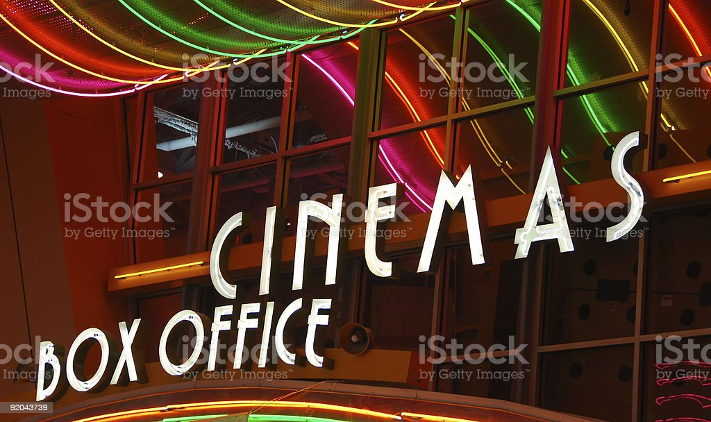 Movie Theater box office stock photo