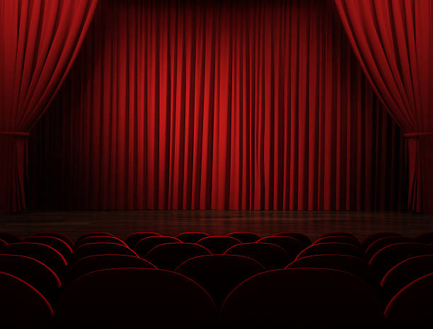 Movie Theater (With Clipping Path) stock photo