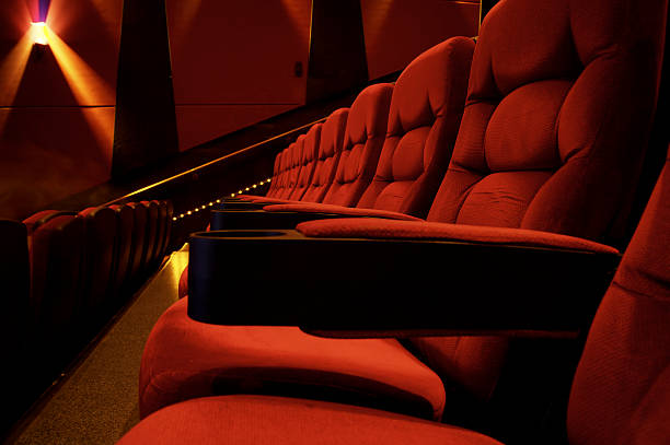 movie theater seats - film festival stock photos and pictures