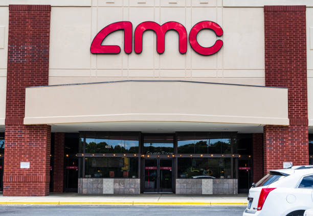 AMC  movie theaters stock photo