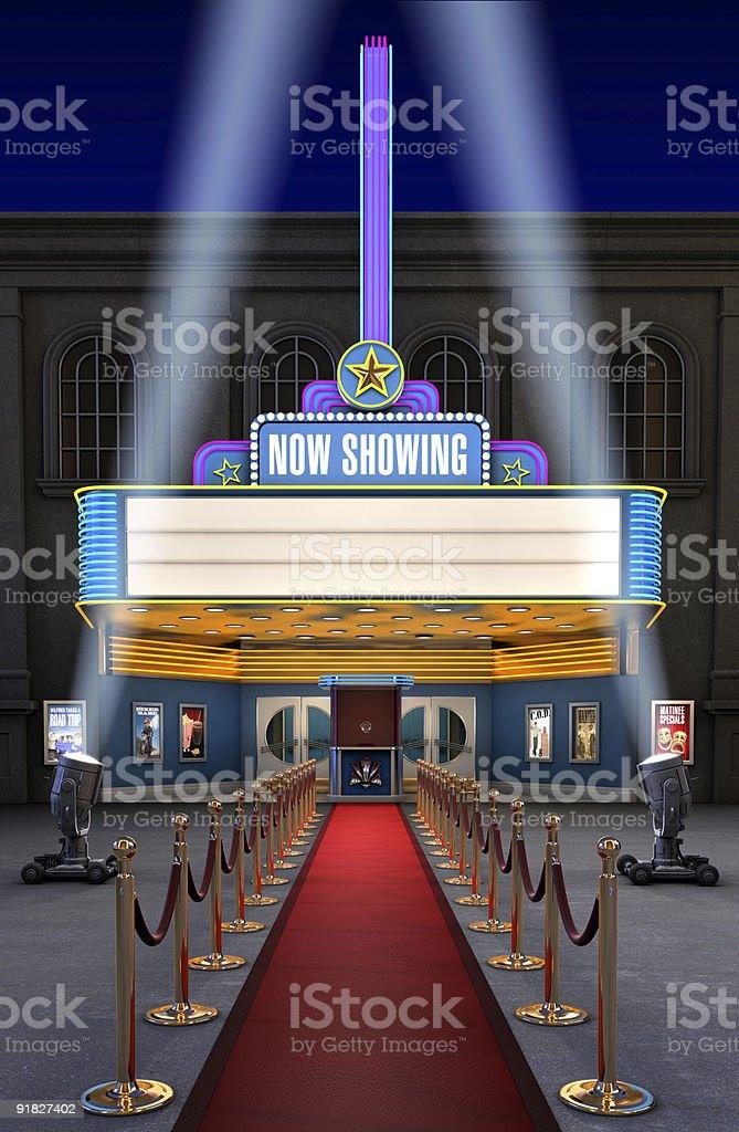 Movie Theatre & Ticket Box royalty-free stock photo