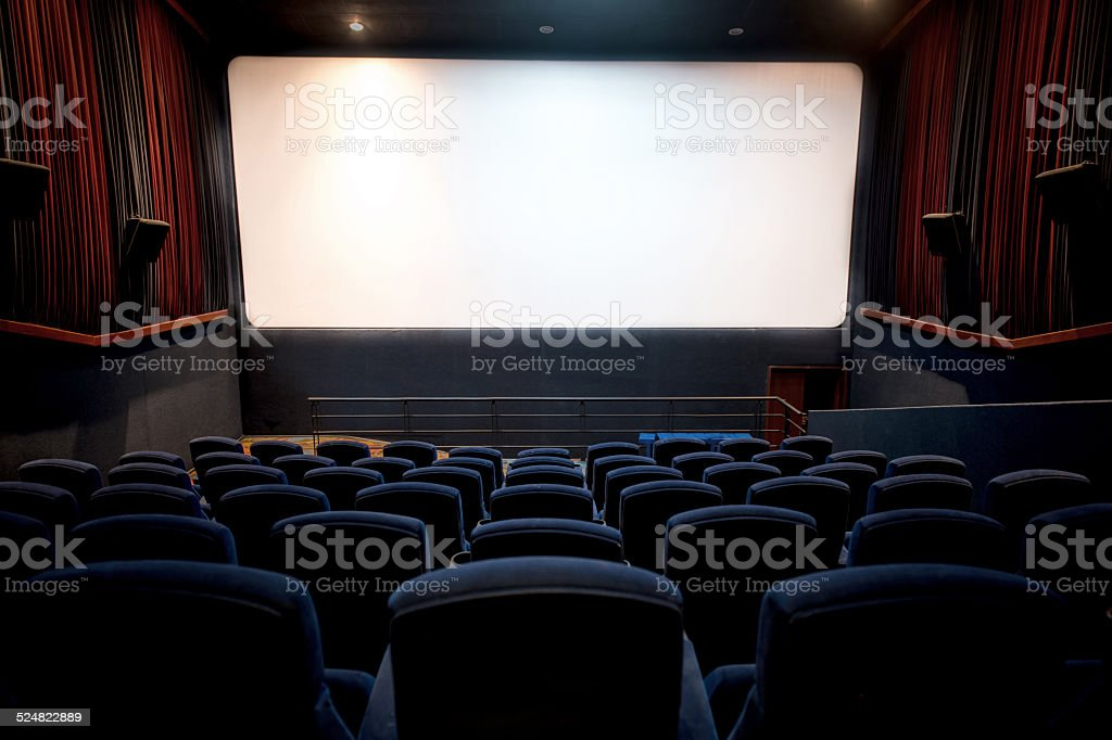 Movie theatre stock photo