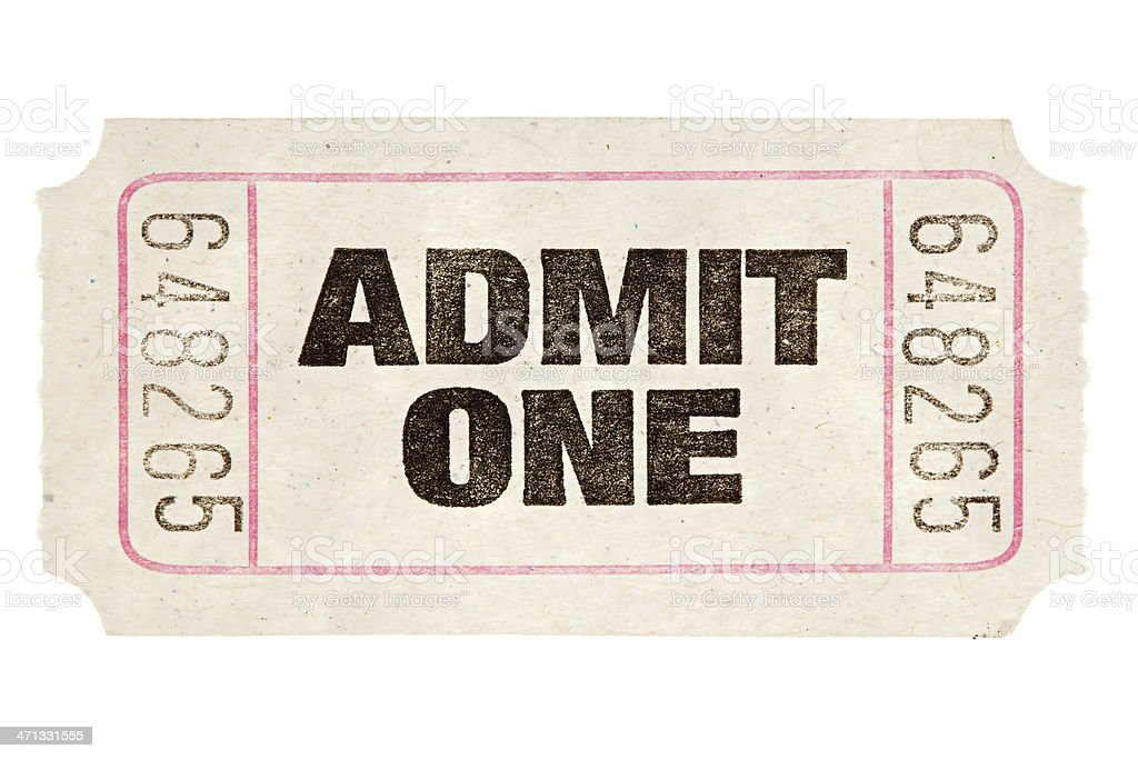 Movie Ticket stock photo
