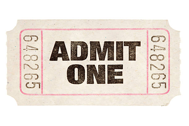 movie ticket - ticket stock photos and pictures
