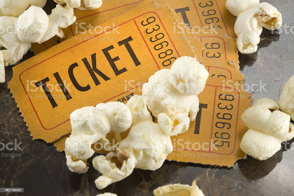 movie tickets royalty-free stock photo