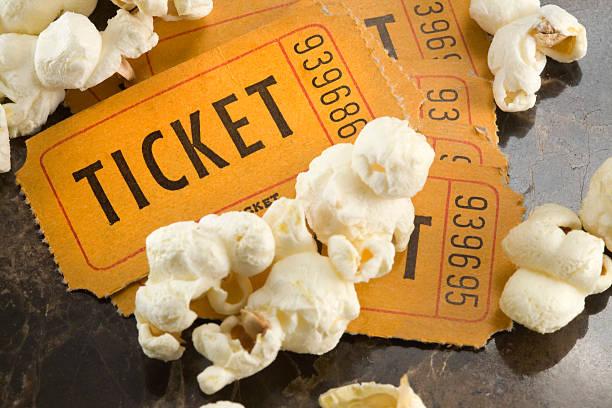 biglietti per il cinema - biglietto del cinema foto e immagini stock