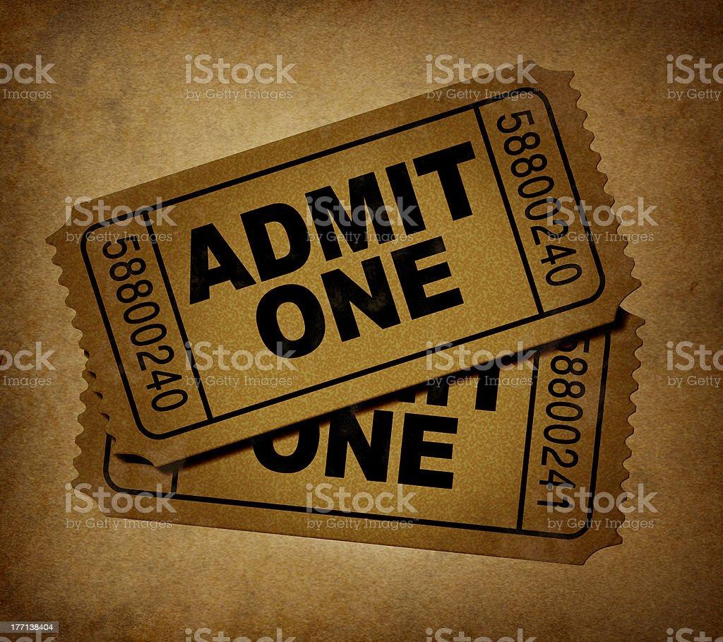 movie tickets vintage stock photo