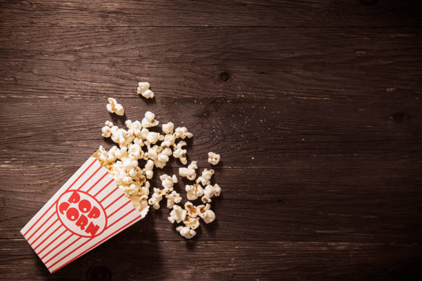 Movie Time Popcorn stock photo