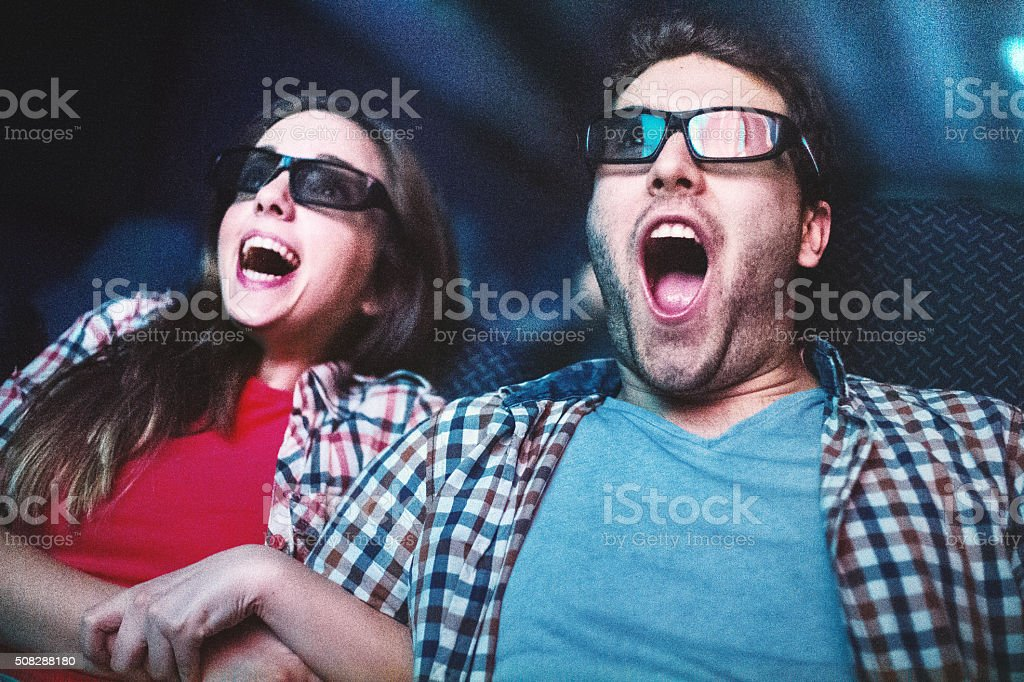 Movies night. stock photo
