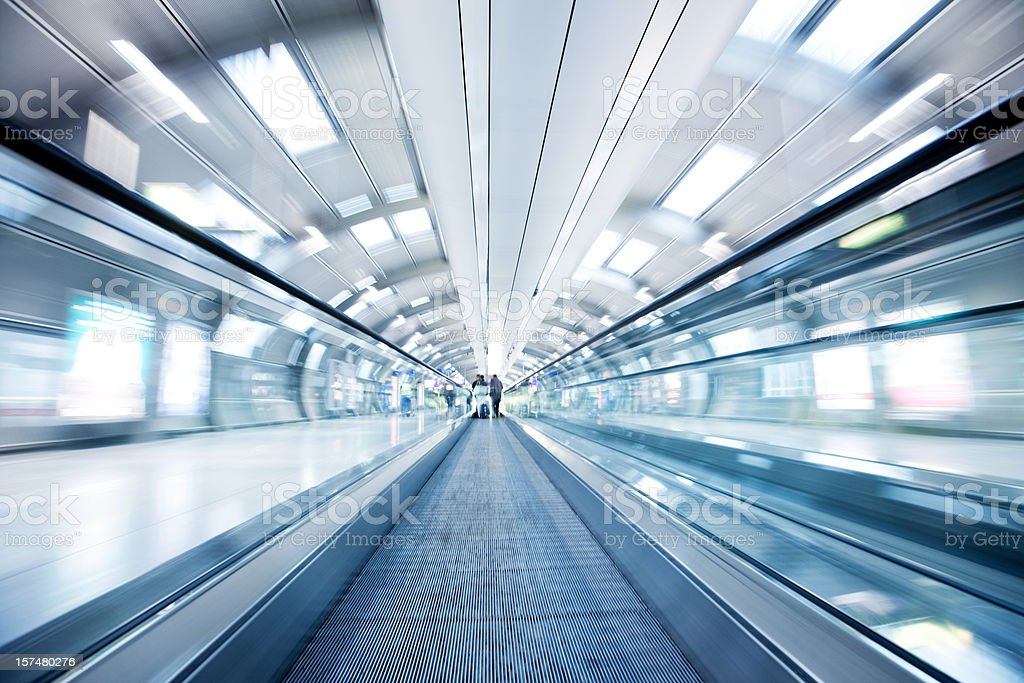 Moving Airport Walkway royalty-free stock photo