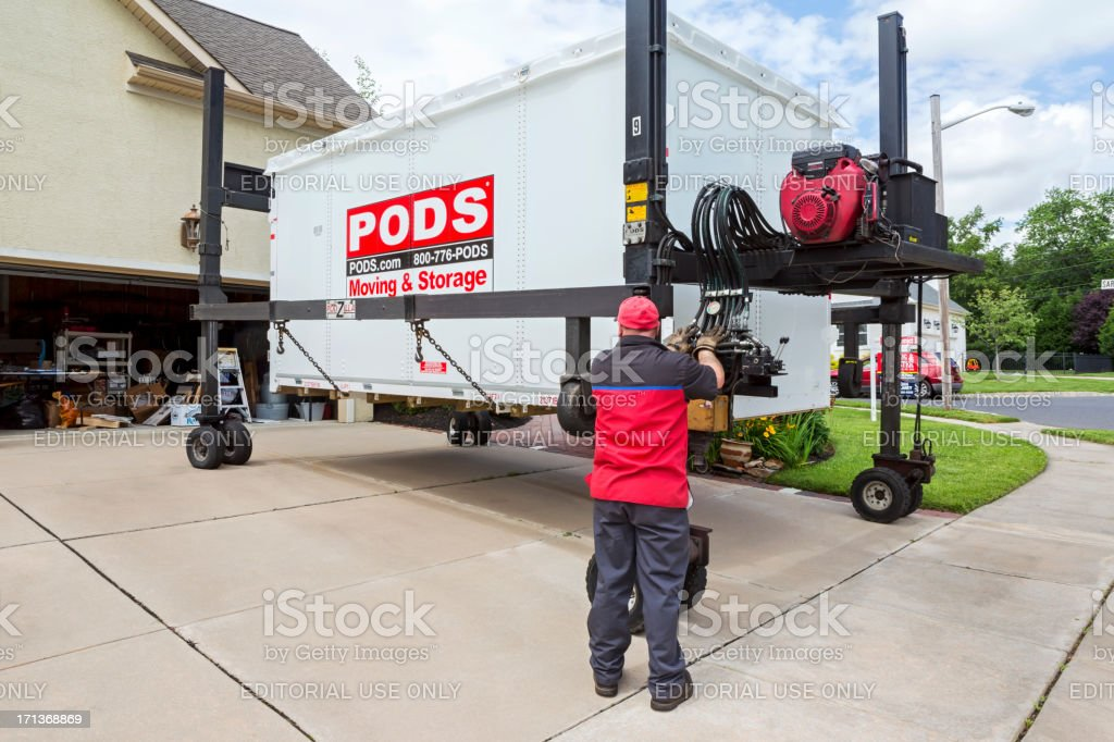 Pods Moving And Storage >> Pods Moving And Storage Stock Photo More Pictures Of